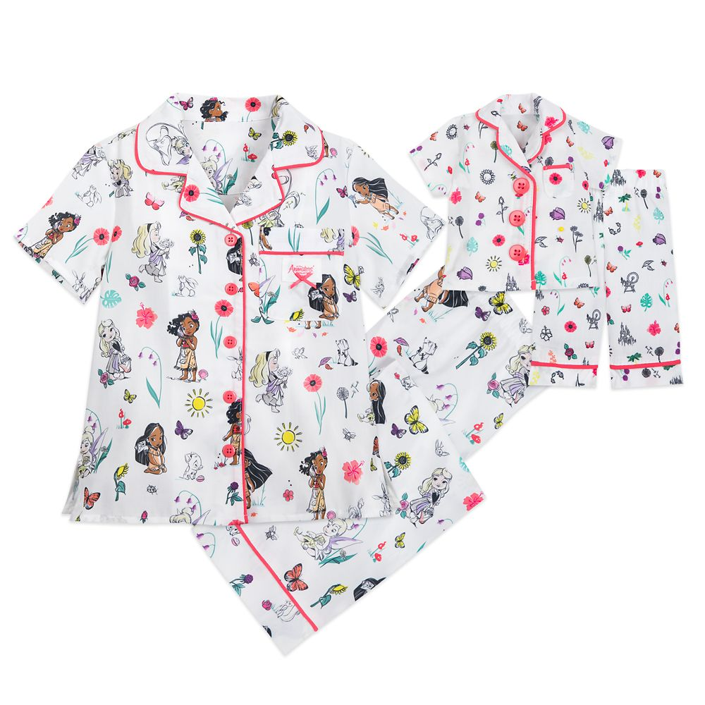 Disney Animators' Collection Matching Pajama Set for Kids and Doll