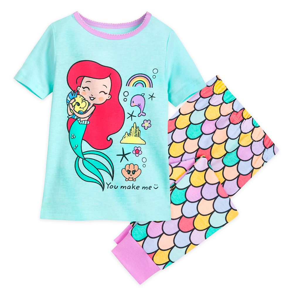 Disney Store Belle Beauty /& the Beast PJ PALs Long Sleeve Cotton Pajama Set NEW
