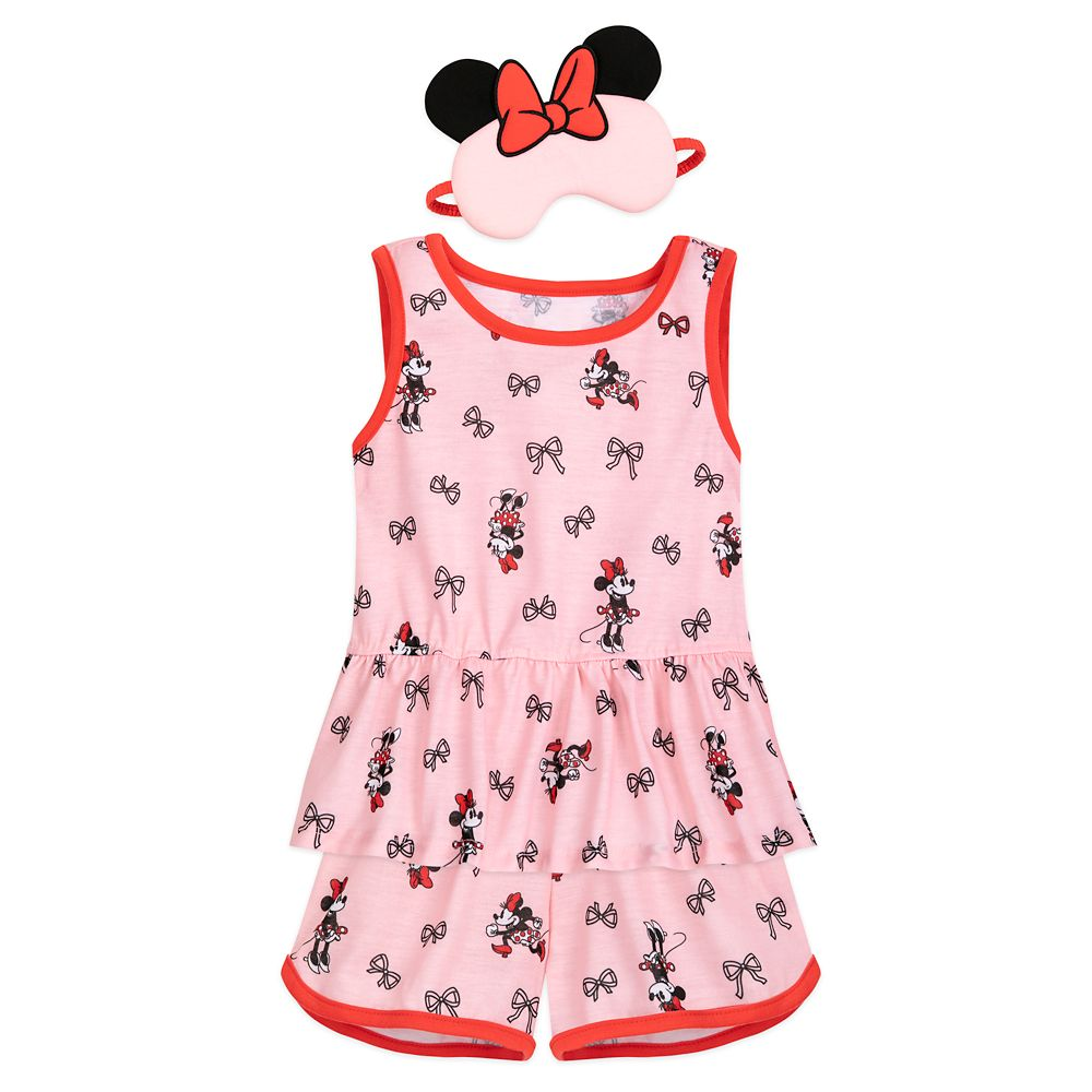 Minnie Mouse PJ Set and Sleep Mask for Girls