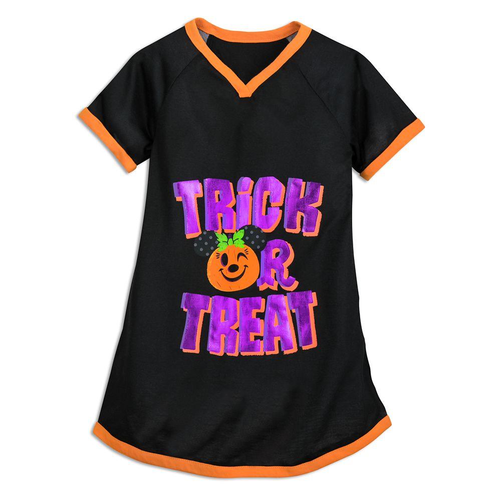 Minnie Mouse Pumpkin Halloween Nightshirt for Girls