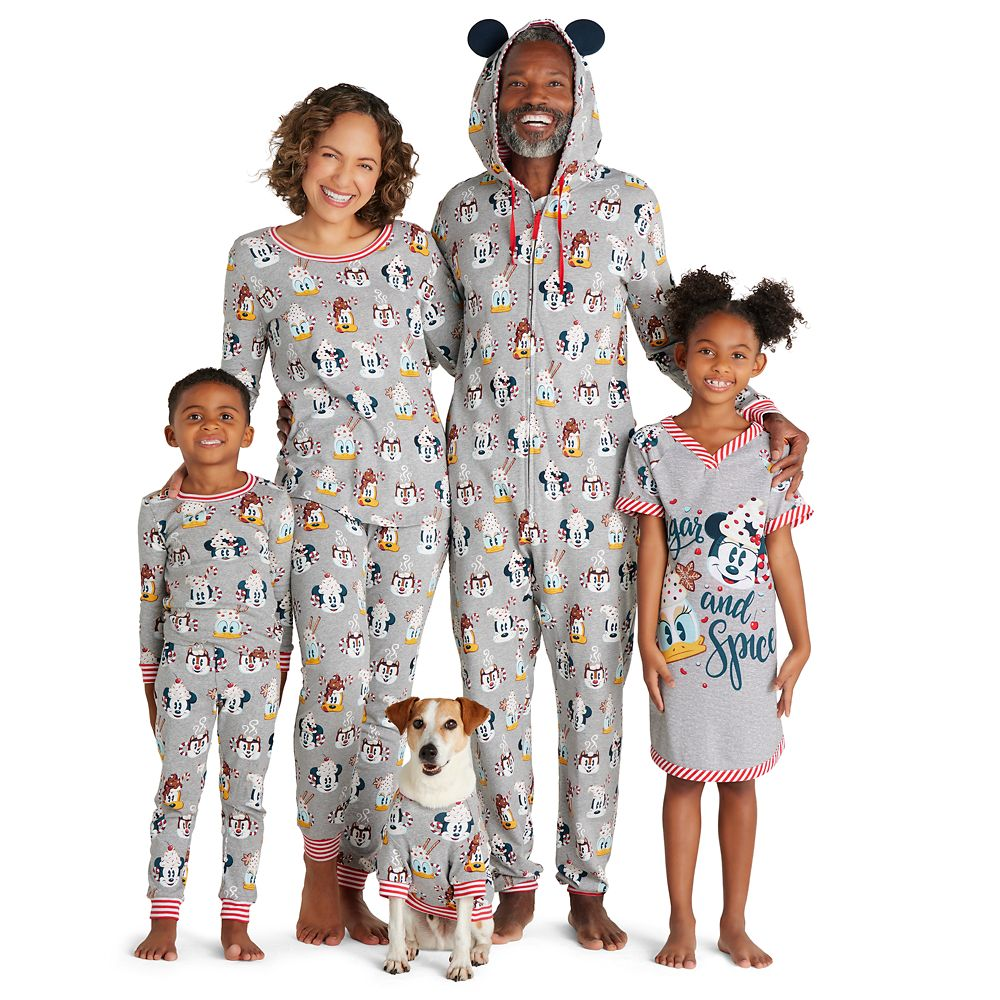 Mickey Mouse and Friends Holiday One-Piece Pajama for Kids