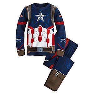 Captain America Costume PJ PALS for Boys - Captain America: Civil War 4903046861850M