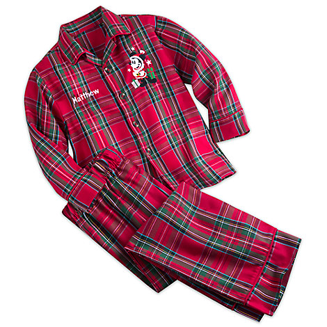 Mickey Mouse Plaid Pajama Set for Kids