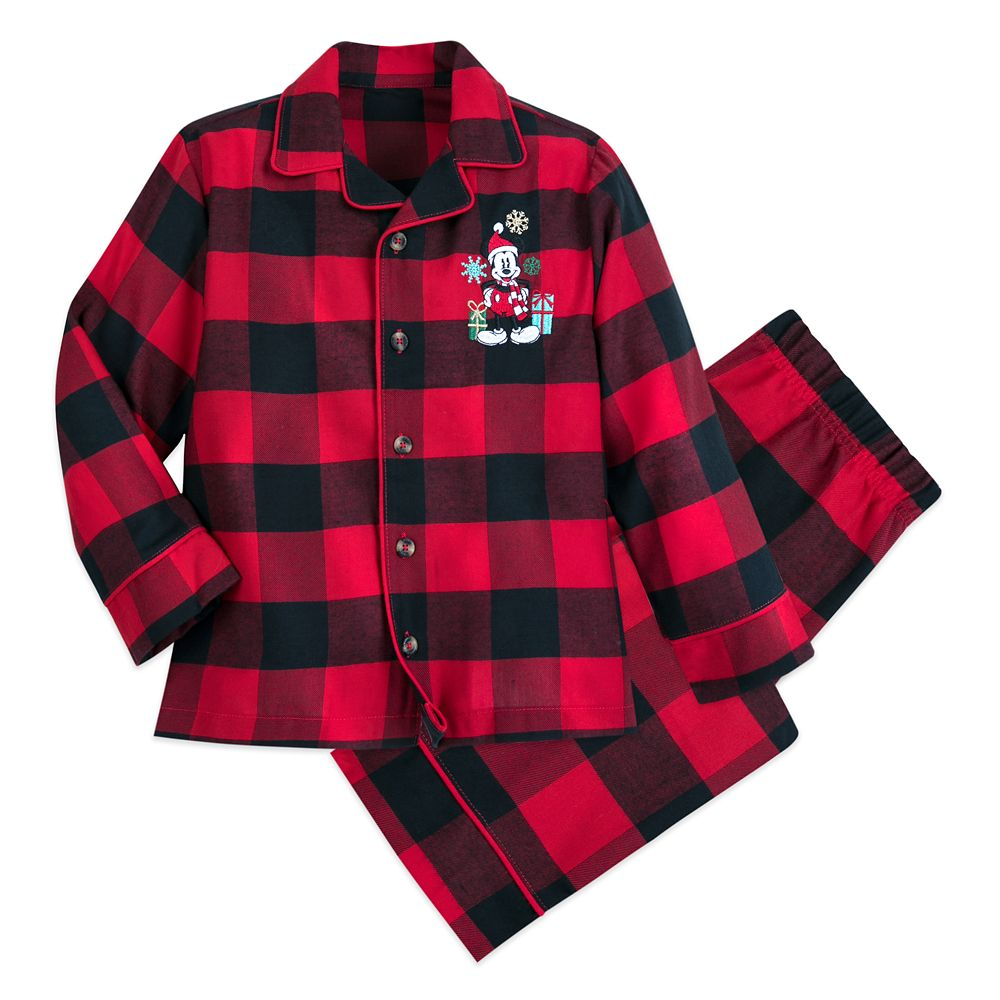 Mickey Mouse Holiday Plaid PJ Set for Boys