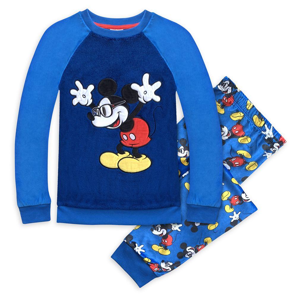 디즈니 Disney Mickey Mouse Fleece Pajama Set for Boys