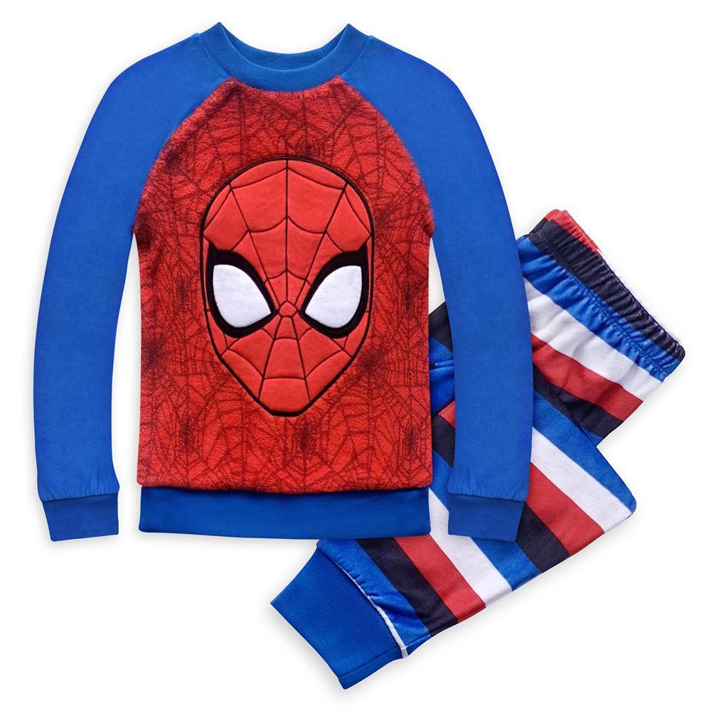 Spider-Man Fleece Pajama Set for Boys