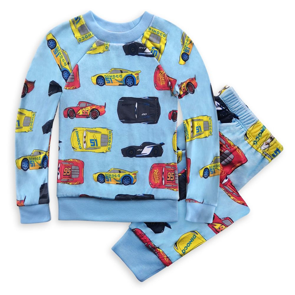 Cars Velour Pajama Set for Boys