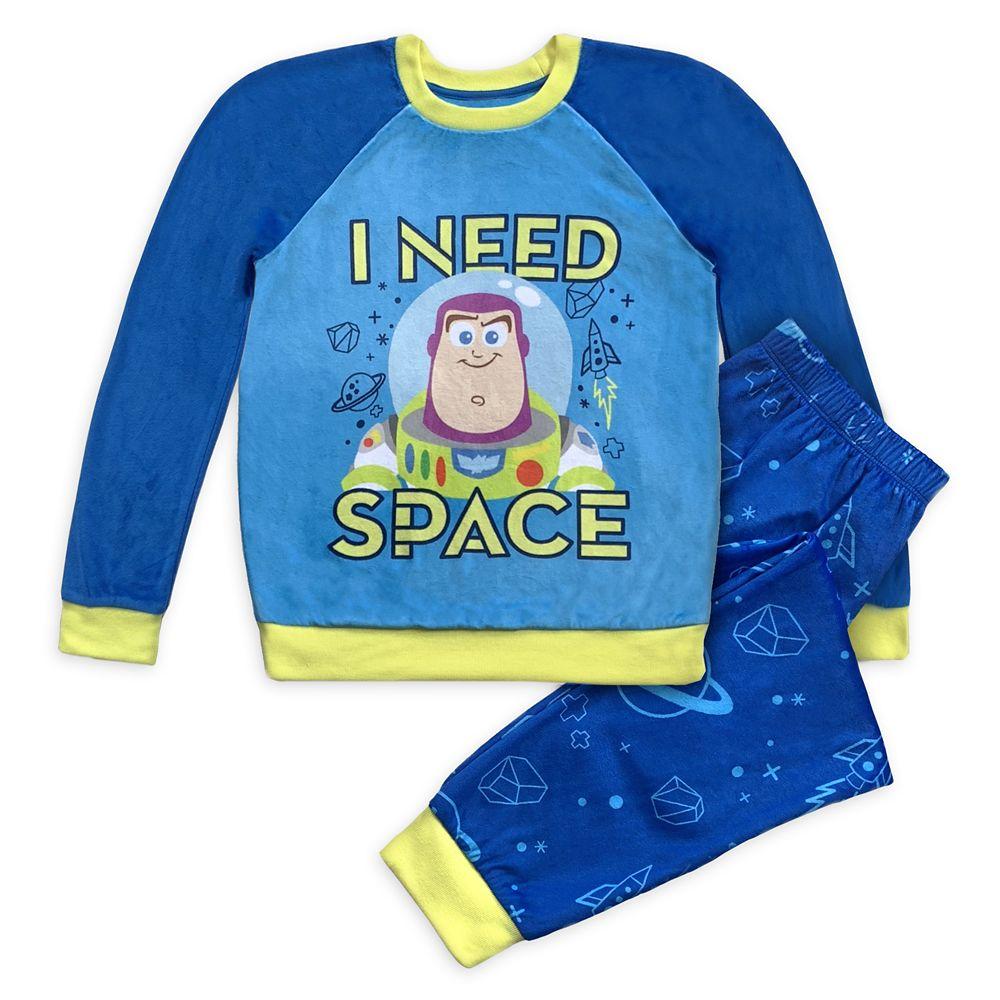 Buzz Lightyear Velour Pajama Set for Boys – Toy Story