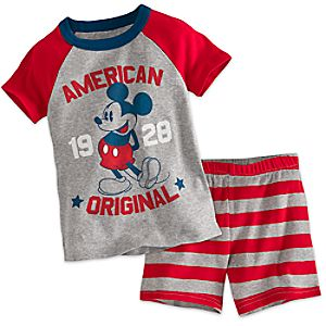 Mickey Mouse Americana PJ PALS Short Set for Boys 4903057392098M