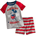 Mickey Mouse Americana PJ PALS Short Set for Boys