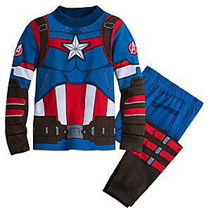 Captain America Costume PJ PALS for Boys 4903057392142M