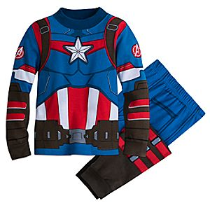 Image of Captain America Costume Pajamas for Boys
