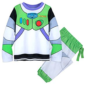 Image of Buzz Lightyear Deluxe Costume Pajamas for Boys