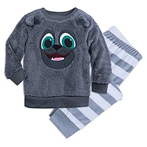 Image of Bingo Fuzzy Pajama Set for Kids - Puppy Dog Pals