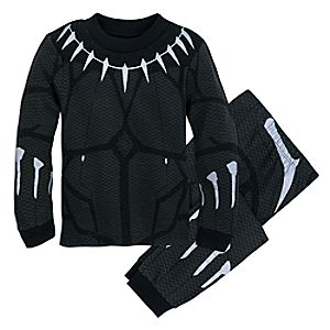 Image of Black Panther Costume Pajamas for Boys