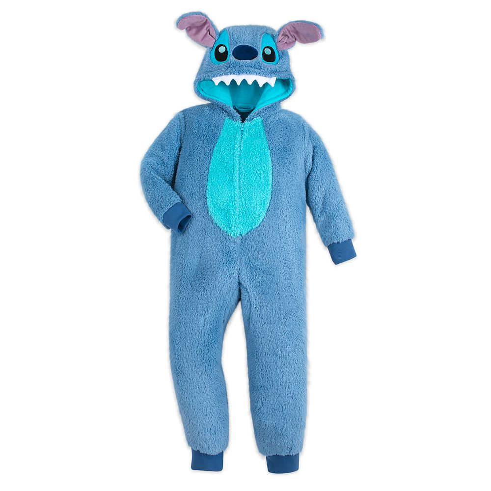 Stitch Fleece Bodysuit Pajamas for Kids
