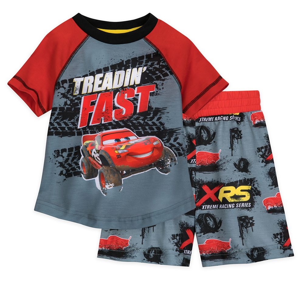 Lightning McQueen Short Sleep Set for Boys
