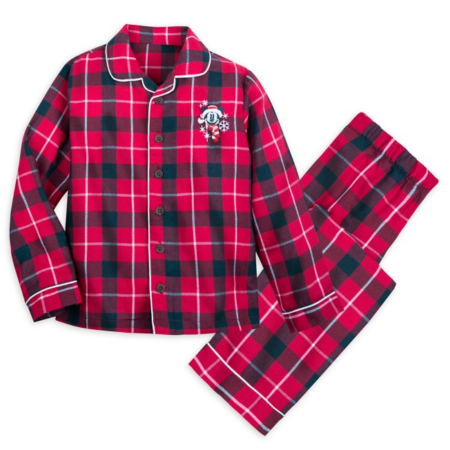 Mickey Mouse Holiday Plaid Flannel Pajamas for Kids – Personalized
