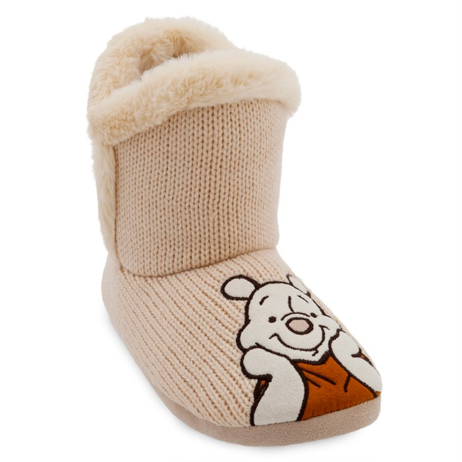 Winnie the Pooh Boot Slippers for Adults