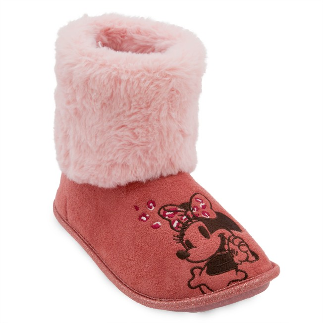 Minnie Mouse Boot Slippers for Adults