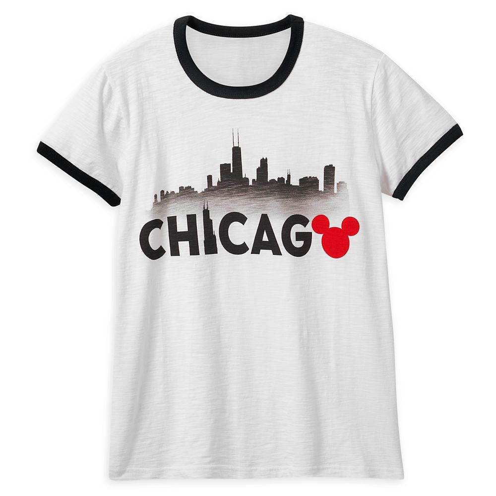 Mickey Mouse Chicago Ringer T-Shirt Shirt for Women