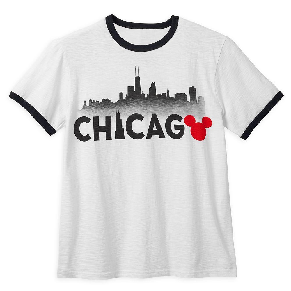 Mickey Mouse Chicago Ringer T-Shirt Shirt for Men