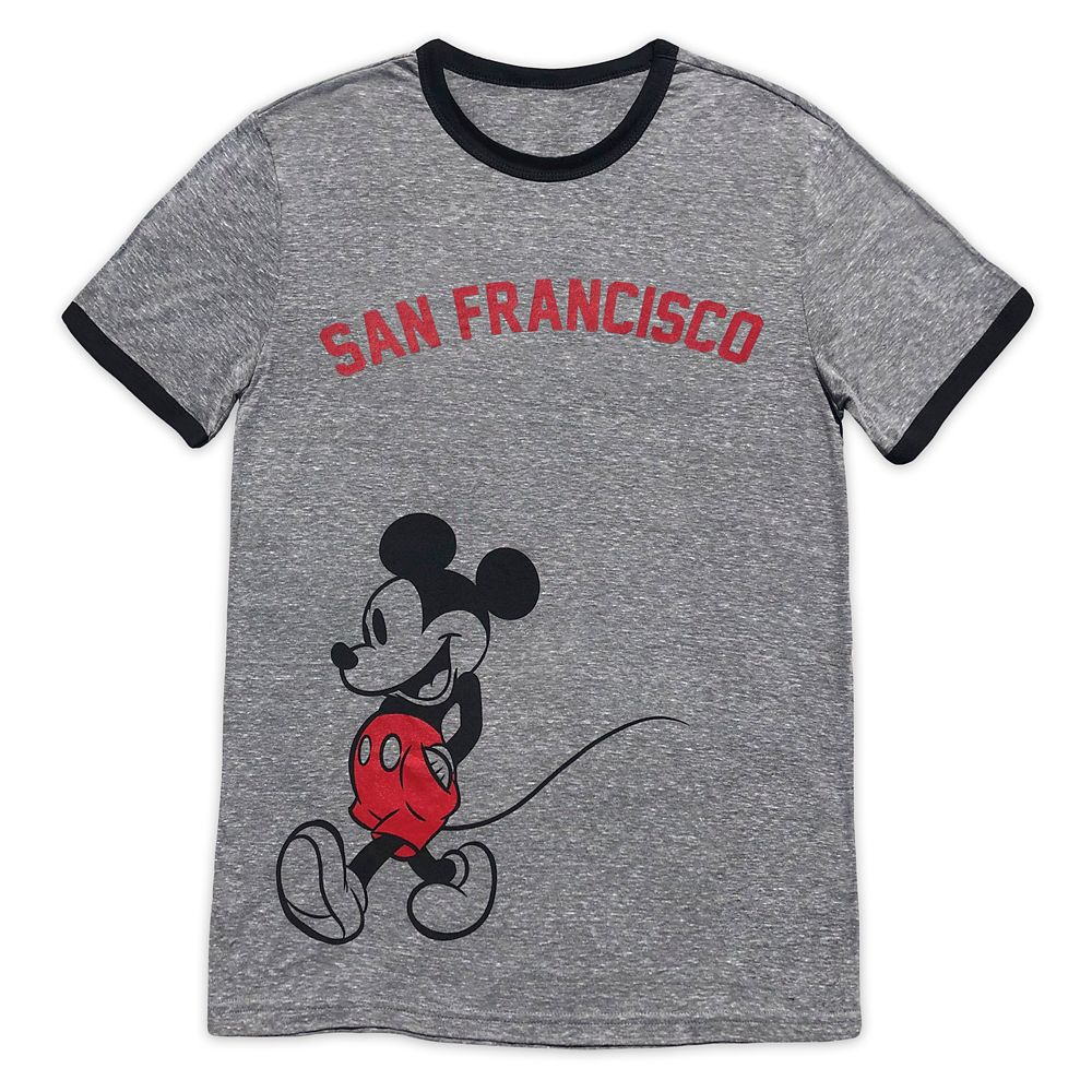 Mickey Mouse Ringer T-Shirt for Adults – San Francisco