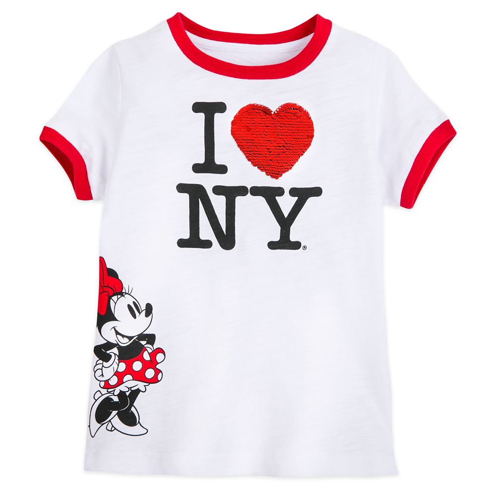 Minnie Mouse I ♥ NY Reversible Sequin T-Shirt for Girls – New York City