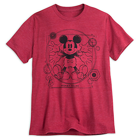 Mickey Mouse Heathered Tee for Men