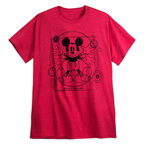 Mickey Mouse Heathered Tee for Men - Plus Size