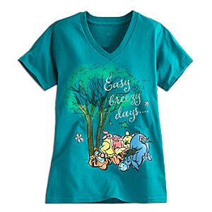 Winnie the Pooh and Pals V-Neck Tee for Women