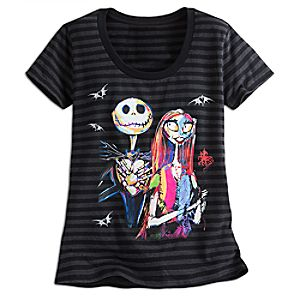 Jack Skellington and Sally Scoop Neck Tee for Women