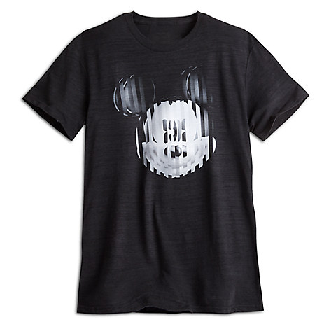 Mickey Mouse Op Art Tee for Men