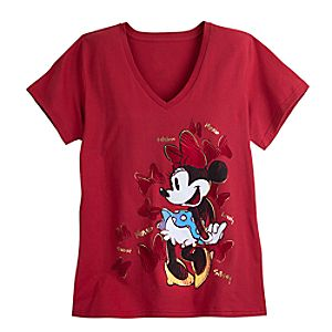Minnie Mouse V-Neck Tee for Women - Plus Size