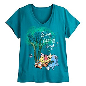 Winnie the Pooh and Pals V-Neck Tee for Women - Plus Size