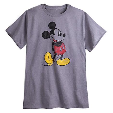 Mickey Mouse Classic Heathered Tee for Men - Plus Size