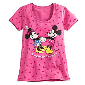 Minnie and Mickey Mouse Tee for Women