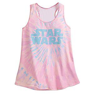 Star Wars Logo Tie-Dye Tank Tee for Women