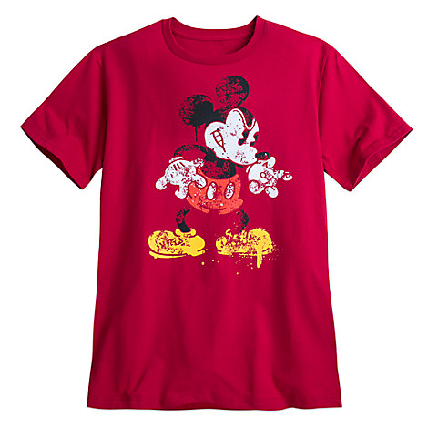 Mickey Mouse Distressed Design Tee for Men