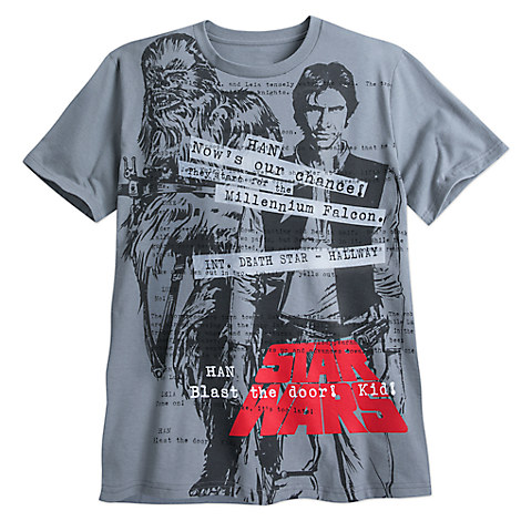 Han Solo and Chewbacca Tee for Men - Star Wars