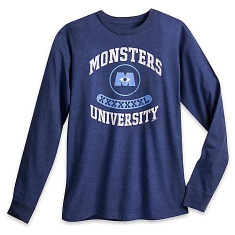 Monsters University Long Sleeve Tee for Men