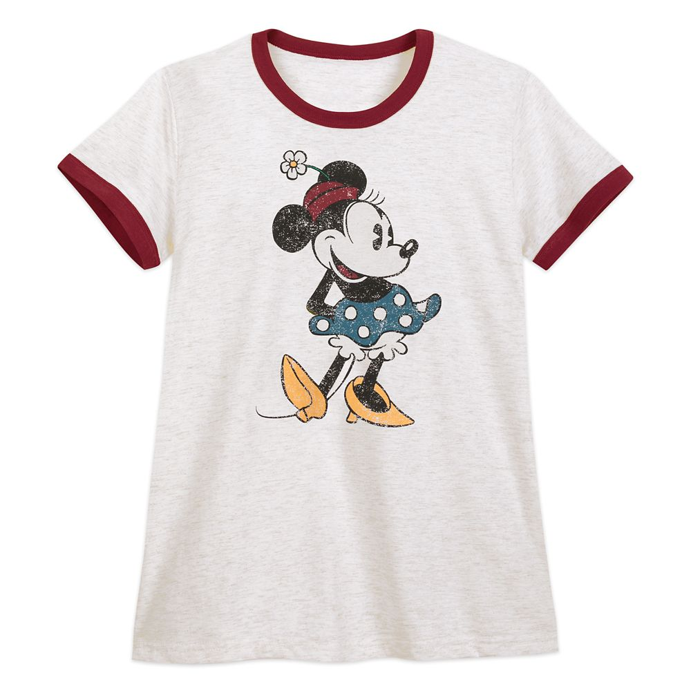 Minnie Mouse Ringer T-Shirt for Women