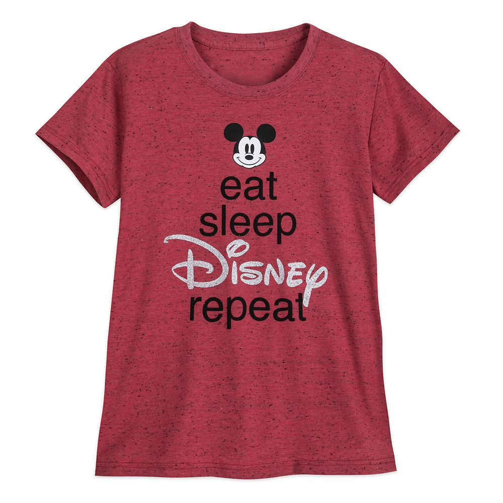 Mickey Mouse ''Eat Sleep Disney'' T-Shirt for Women