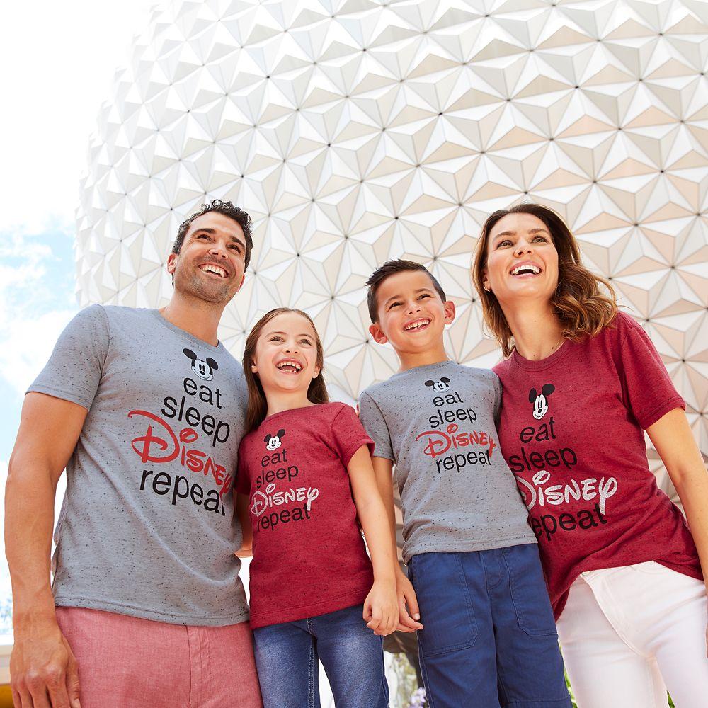 Mickey Mouse ''Eat Sleep Disney'' T-Shirt for Women