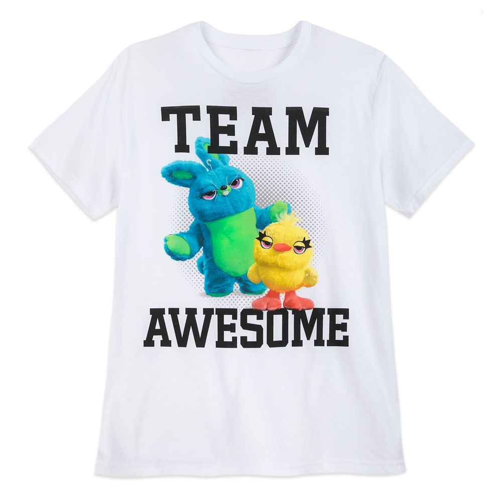 Ducky and Bunny ''Team Awesome'' T-Shirt for Adults  Toy Story 4 Official shopDisney