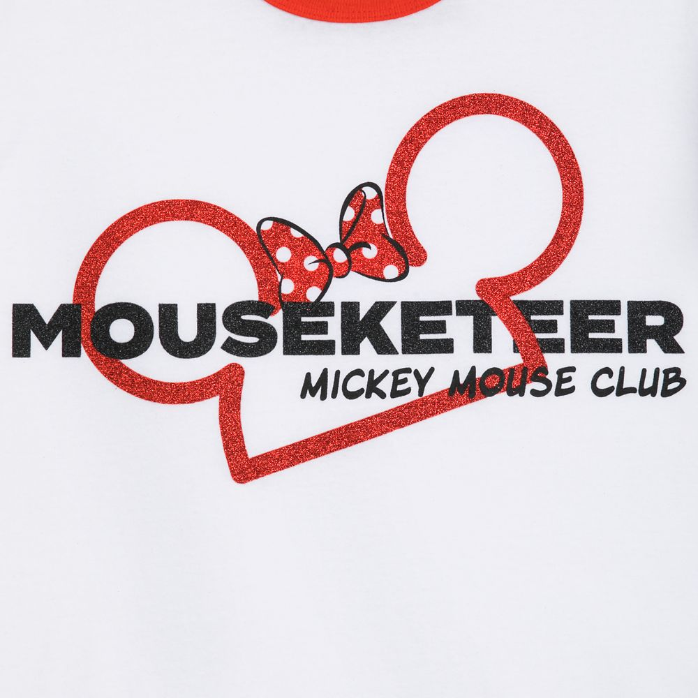 Minnie Mouse Mouseketeer Ringer T-Shirt for Women
