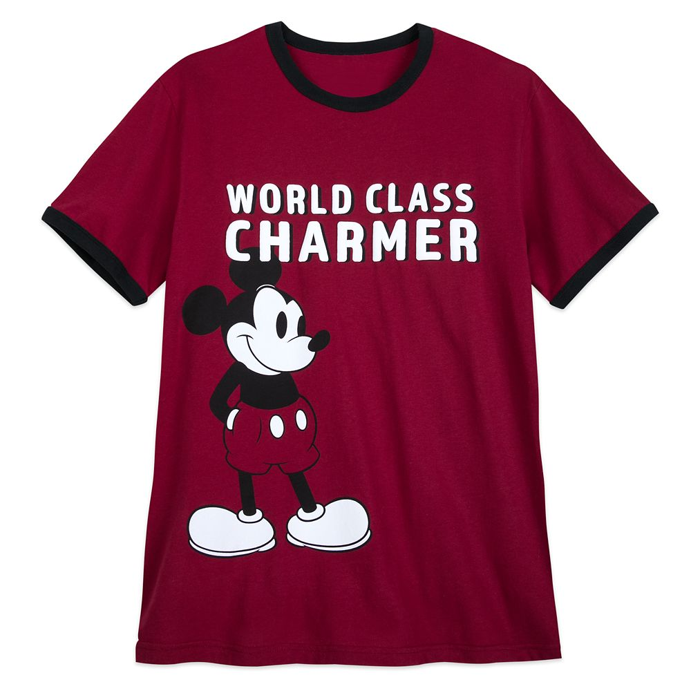 Mickey Mouse ''Charmer'' Ringer T-Shirt for Men