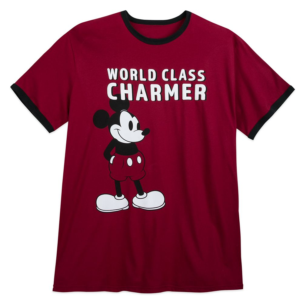 Mickey Mouse ''Charmer'' Ringer T-Shirt for Men – Extended Size