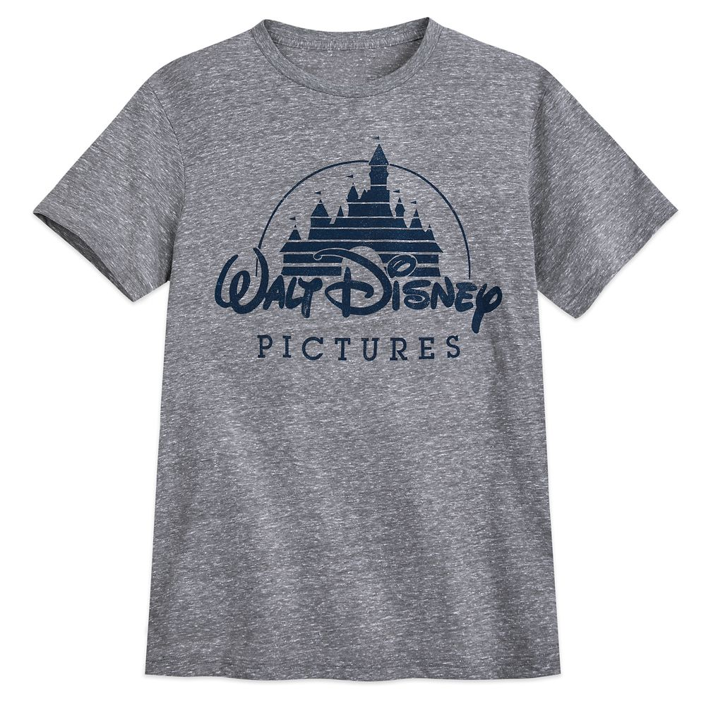 Walt Disney Pictures Logo T-Shirt for Men – Gray
