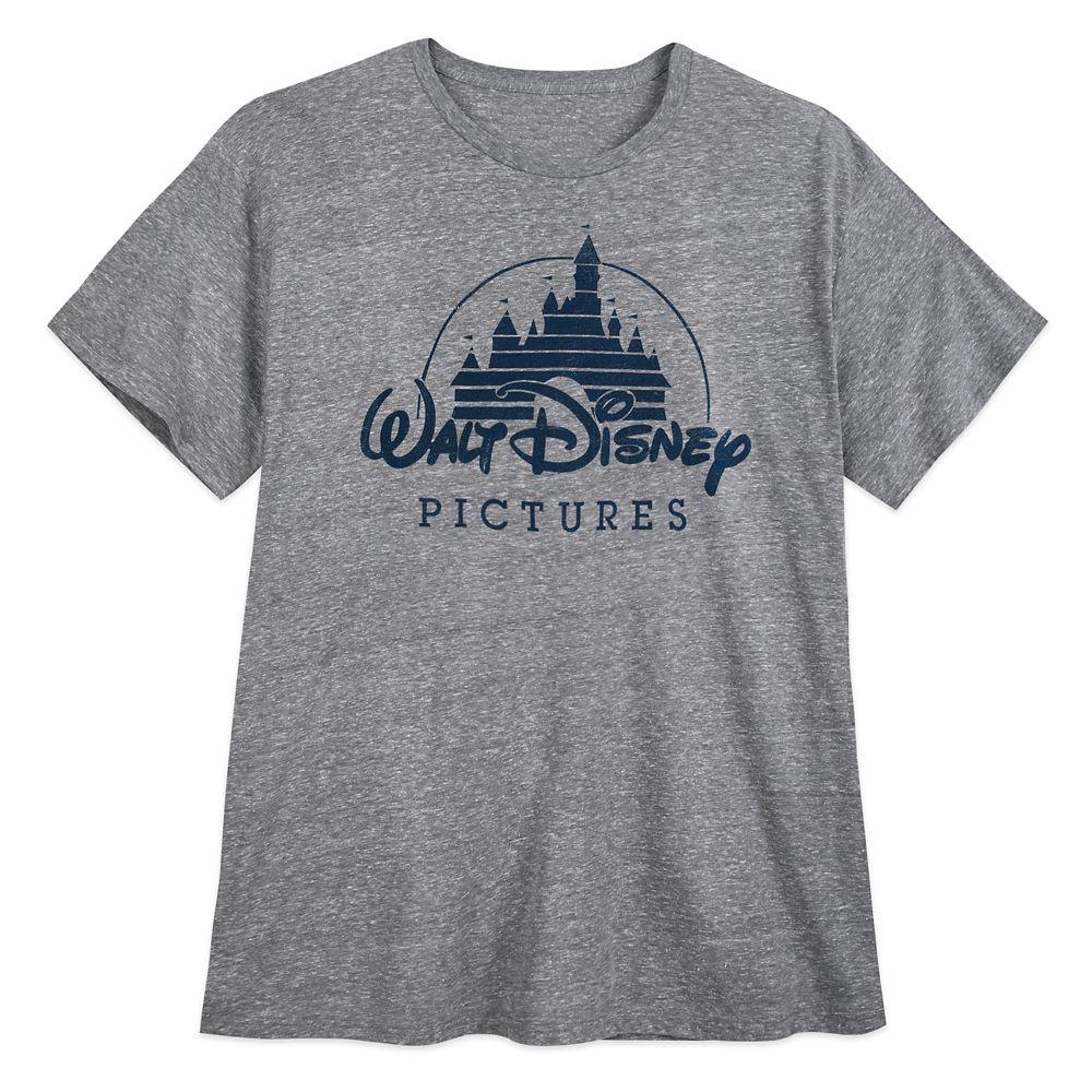 Walt Disney Pictures Logo T-Shirt for Men – Gray – Extended Size